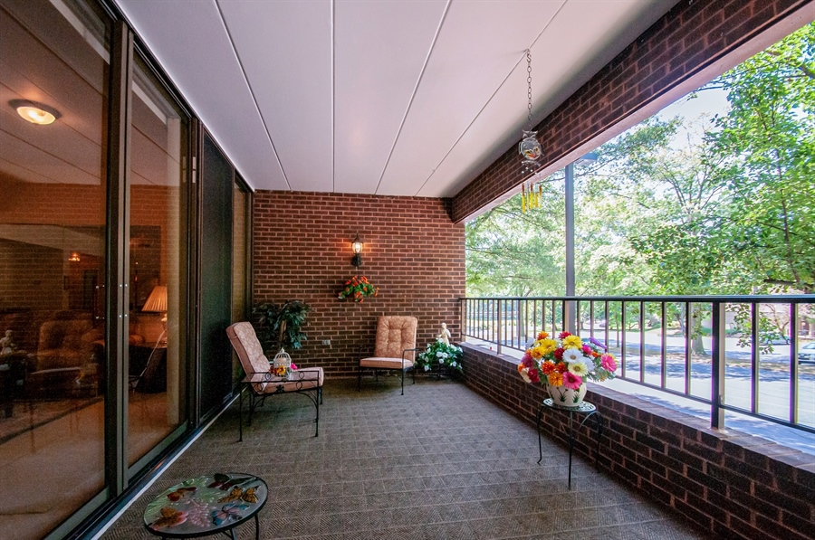 Real Estate Photography - 614 Loveville  Road #B1g, B1G, Hockessin, DE, 19707 - Another Balcony View - What A Nice Space!