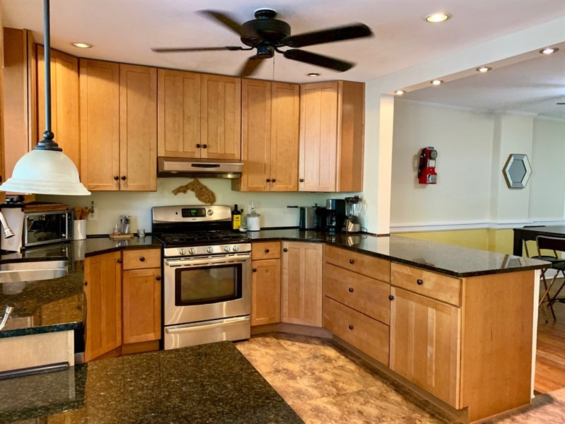 Real Estate Photography - 1701 N Rodney St, Wilmington, DE, 19806 - Gorgeous Kitchen w Granite Counters & Gas Cooking