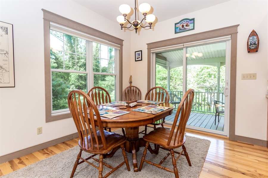 Real Estate Photography - 302 Cecil Avenue, Earleville, DE, 21919 - dining with a view of nature