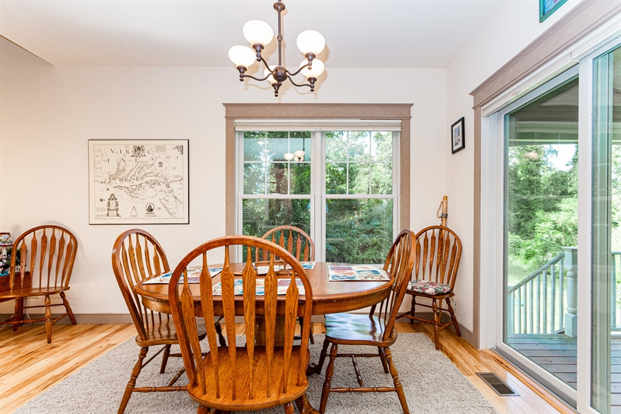 Real Estate Photography - 302 Cecil Avenue, Earleville, DE, 21919 - dining area open to kitchen and living areas