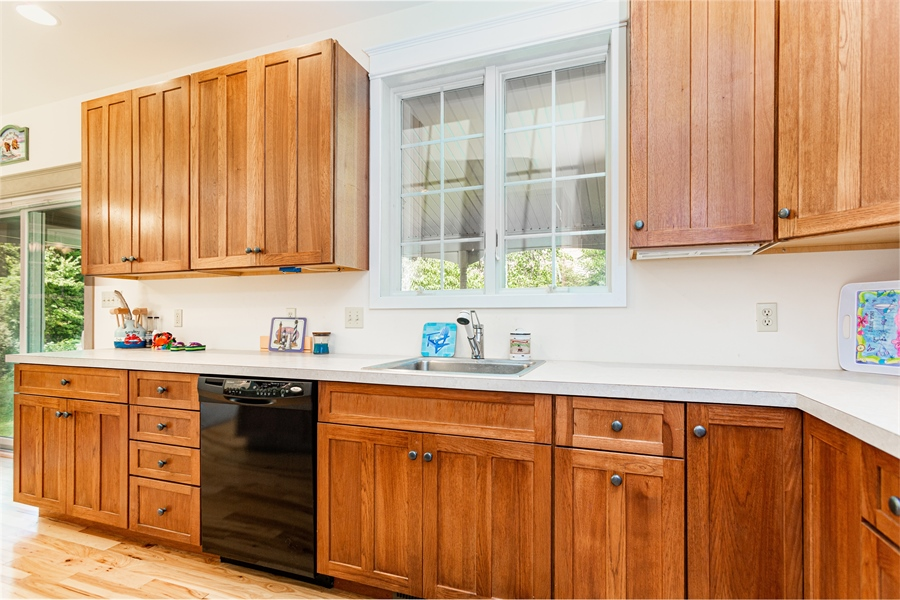 Real Estate Photography - 302 Cecil Avenue, Earleville, DE, 21919 - updated kitchen with plenty of storage