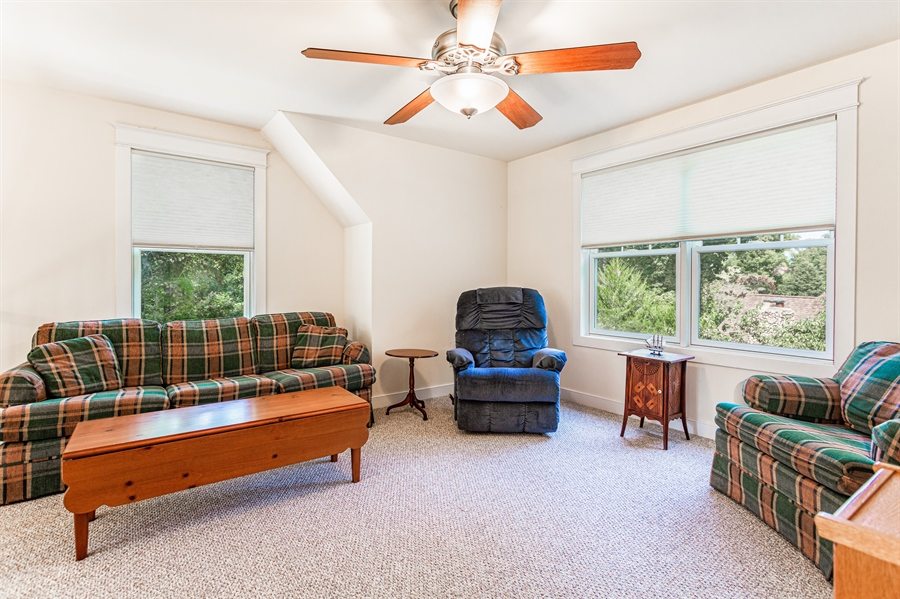 Real Estate Photography - 302 Cecil Avenue, Earleville, DE, 21919 - lofted family room provides open feel