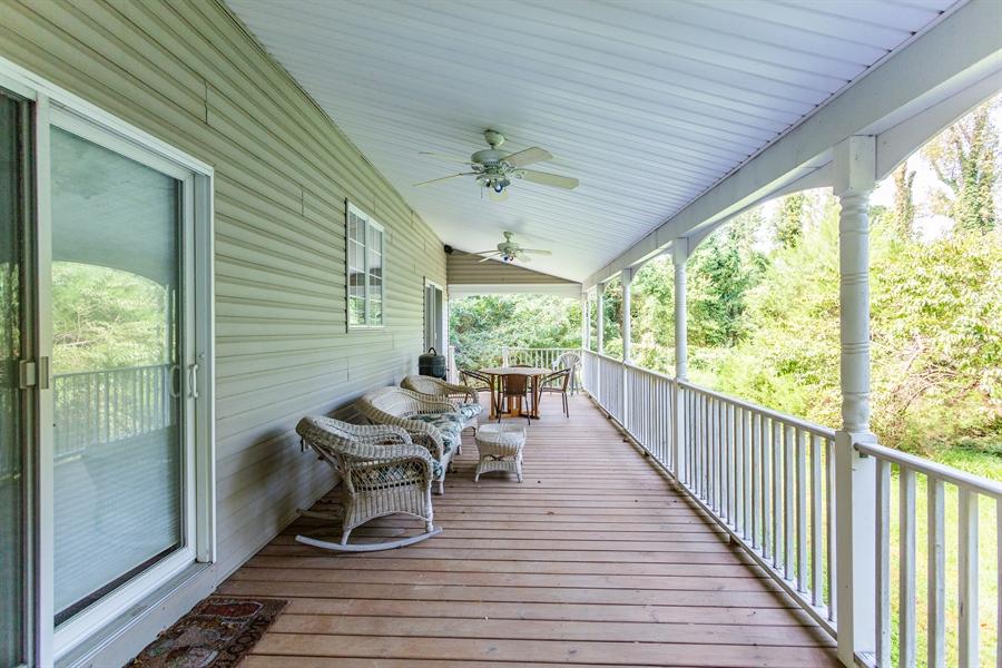 Real Estate Photography - 302 Cecil Avenue, Earleville, DE, 21919 - entertain on back porch