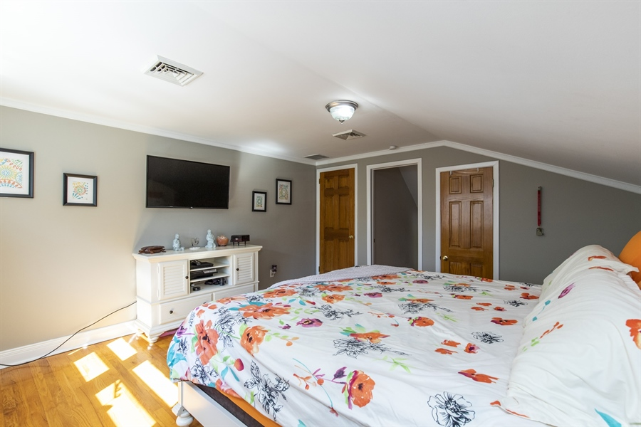 Real Estate Photography - 421 Goodley Rd, Wilmington, DE, 19803 - Master bedroom (third view) w/ walk-up attic