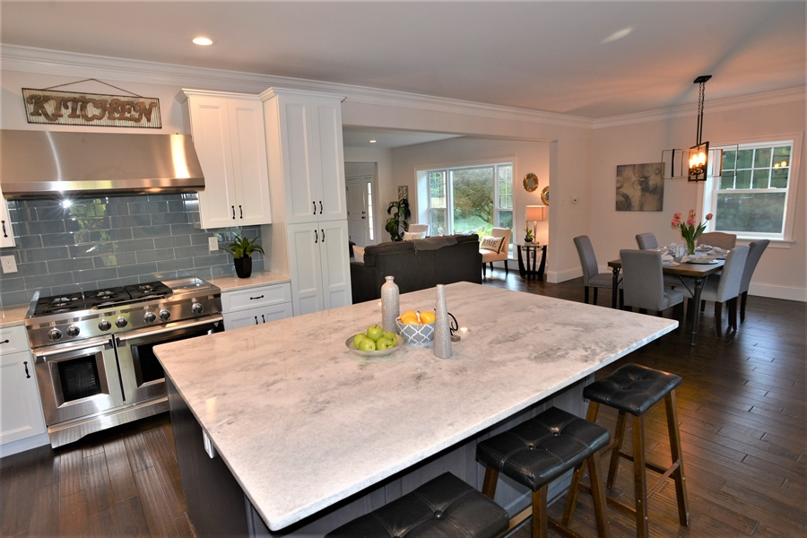 Real Estate Photography - 1426 E Strasburg Rd, West Chester, PA, 19380 - Chef Gourmet Kitchen w/Large Island.
