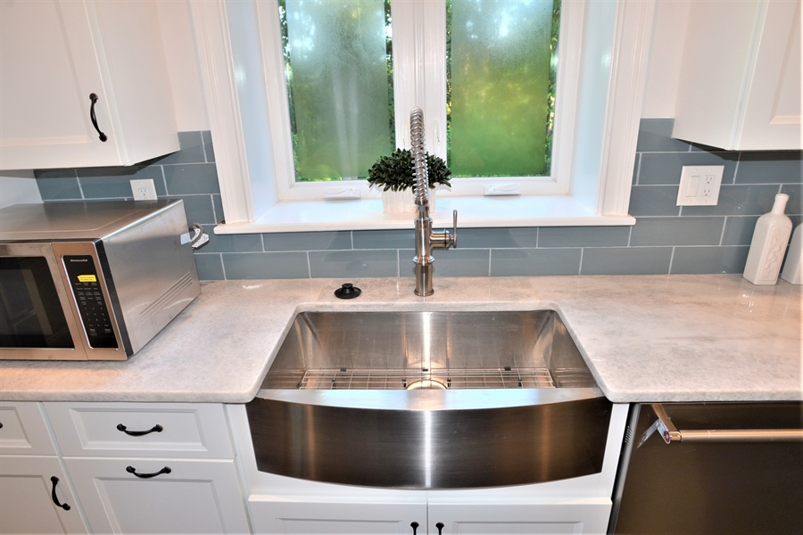 Real Estate Photography - 1426 E Strasburg Rd, West Chester, PA, 19380 - Farmhouse Stainless Steel Sink.