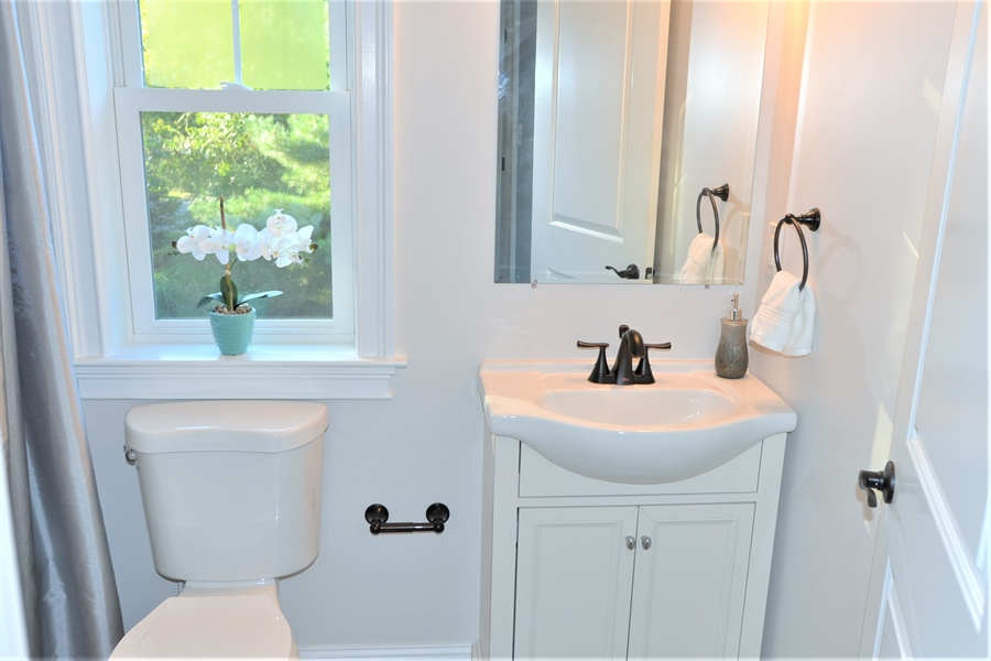 Real Estate Photography - 1426 E Strasburg Rd, West Chester, PA, 19380 - EnSuite 2nd Full Bath.
