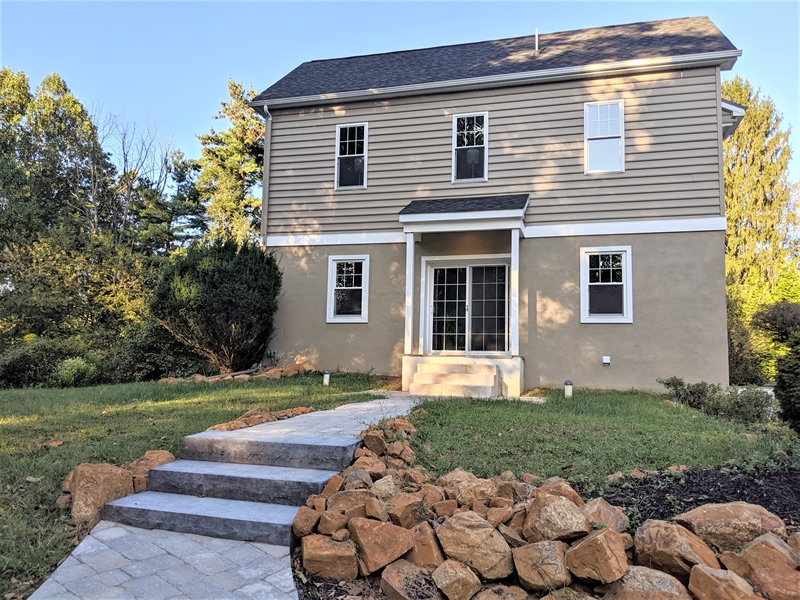 Real Estate Photography - 1426 E Strasburg Rd, West Chester, PA, 19380 - Professional Landscaping and Walkways.