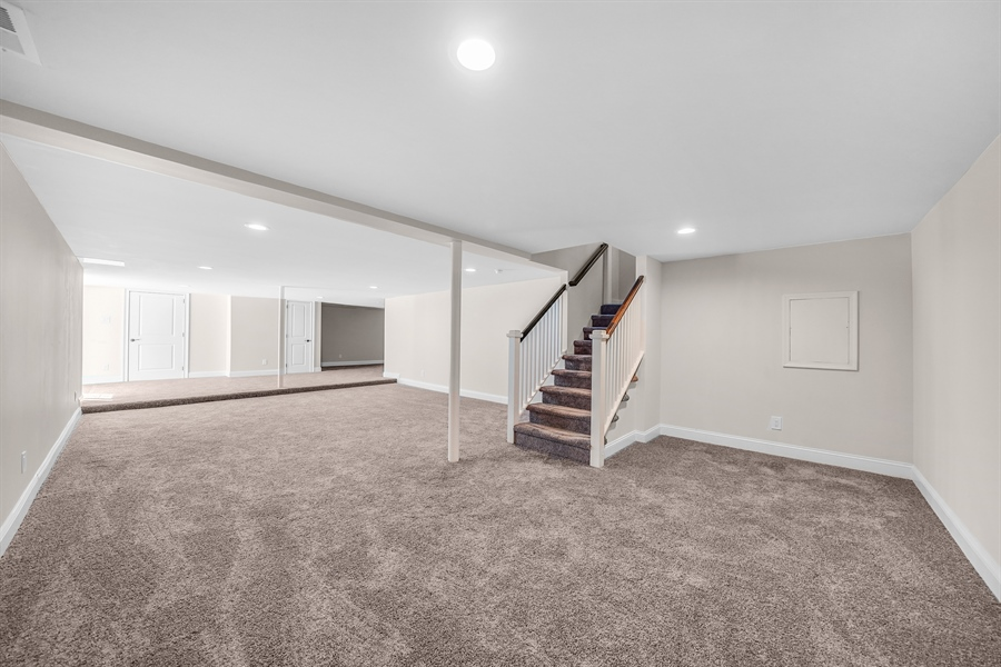 Real Estate Photography - 1426 E Strasburg Rd, West Chester, PA, 19380 - Fully Finished Basement