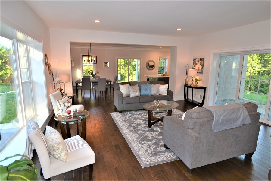 Real Estate Photography - 1426 E Strasburg Rd, West Chester, PA, 19380 - Formal Living Room w/Yard Access through Sliders.