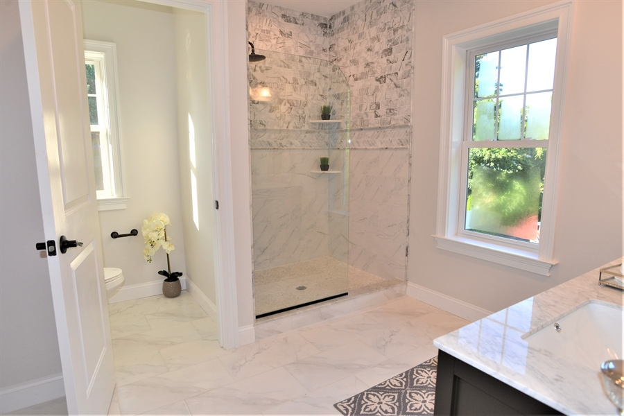 Real Estate Photography - 1426 E Strasburg Rd, West Chester, PA, 19380 - Spacious Master Bath w/Lots of Natural Light.