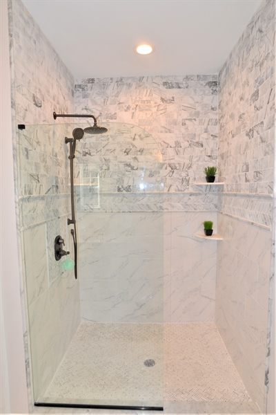 Real Estate Photography - 1426 E Strasburg Rd, West Chester, PA, 19380 - Large Master Shower.