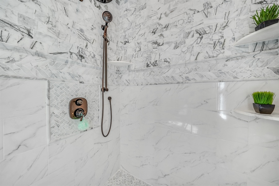 Real Estate Photography - 1426 E Strasburg Rd, West Chester, PA, 19380 - Large Walk In Shower