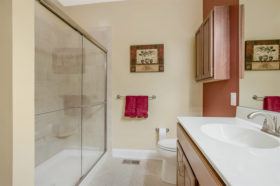 Real Estate Photography - 314 Cassell Ct, Wilmington, DE, 19803 - Double sink vanity and large shower