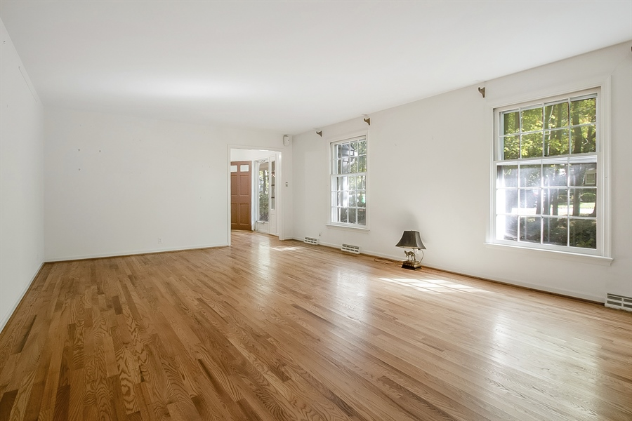 Real Estate Photography - 3303 Coachman Rd, Wilmington, DE, 19803 - Living Room Bathed in Natural Light
