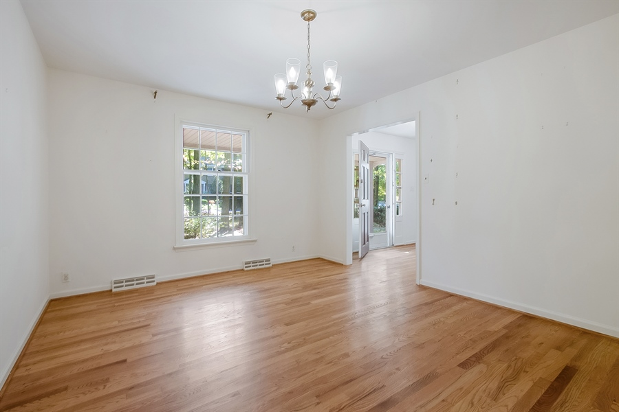 Real Estate Photography - 3303 Coachman Rd, Wilmington, DE, 19803 - Dining Room Directly Off Kitchen