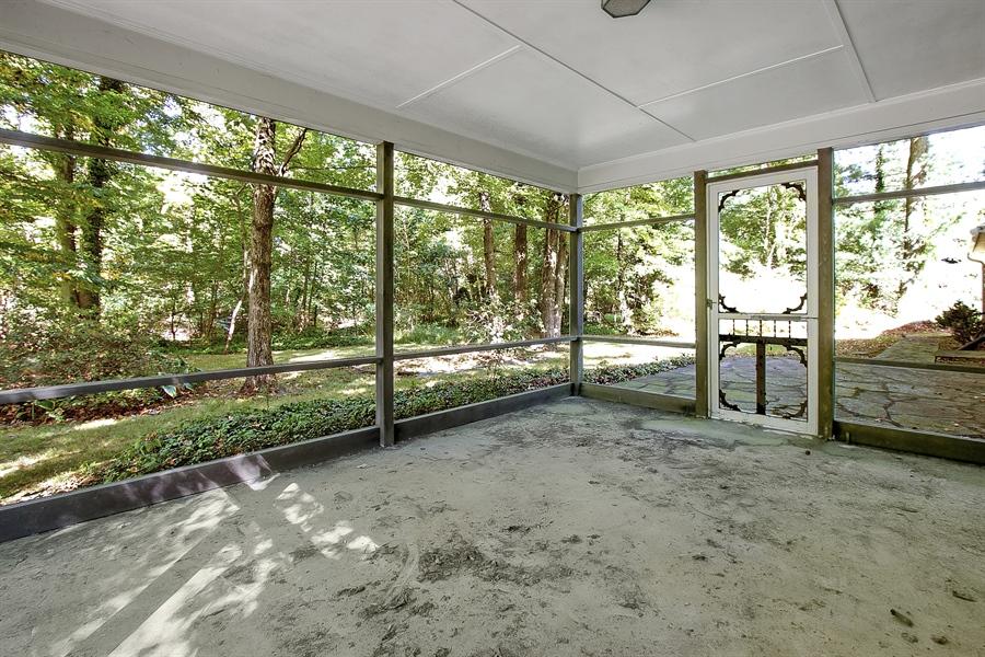 Real Estate Photography - 3303 Coachman Rd, Wilmington, DE, 19803 - Enclosed Rear Porch
