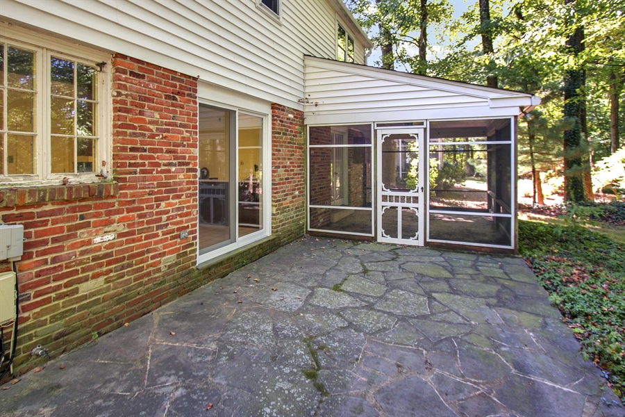 Real Estate Photography - 3303 Coachman Rd, Wilmington, DE, 19803 - Kitchen Accessible From Flagstone Patio