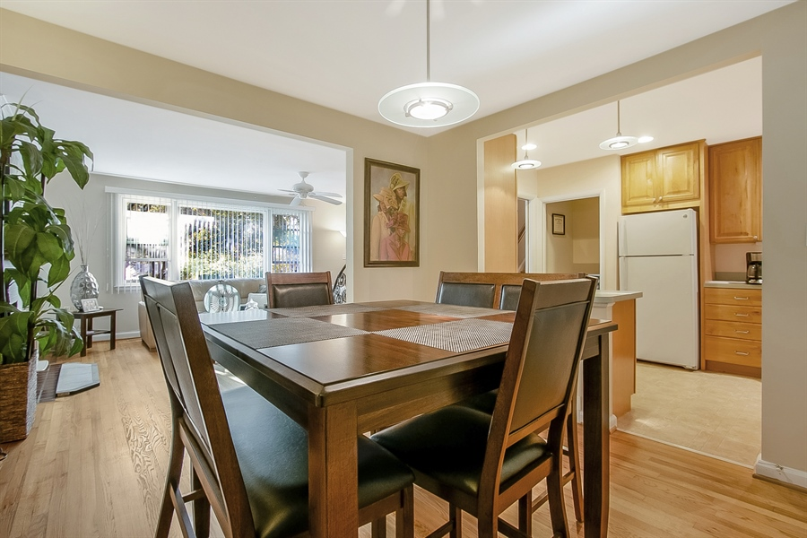 Real Estate Photography - 1113 Wilson Rd, Wilmington, DE, 19803 - Dining Room is open to kitchen