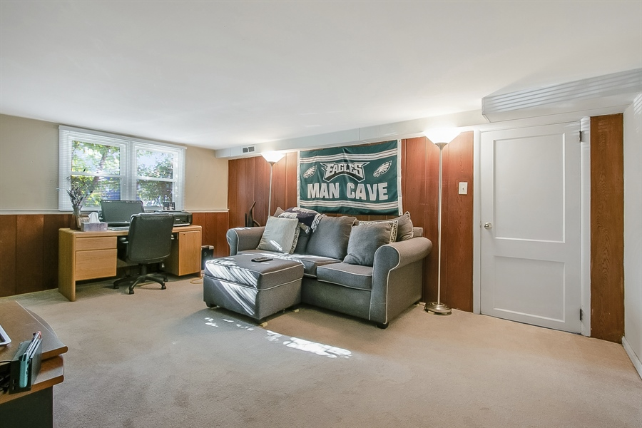 Real Estate Photography - 1113 Wilson Rd, Wilmington, DE, 19803 - Family Room/Man Cave/Office