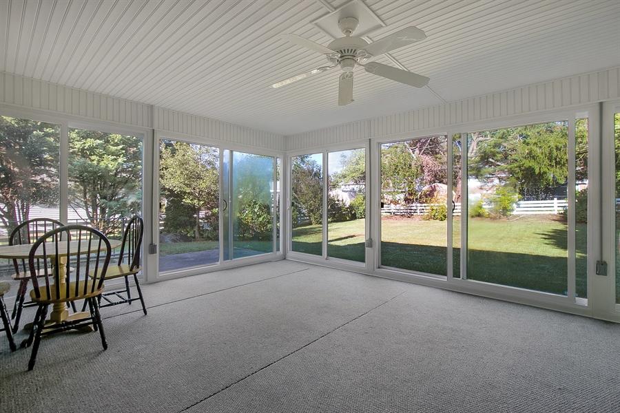 Real Estate Photography - 1113 Wilson Rd, Wilmington, DE, 19803 - Beautiful Spacious Sunroom