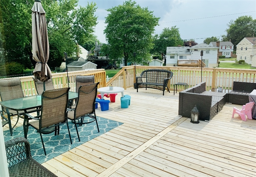 Real Estate Photography - 24 Marta Dr, Wilmington, DE, 19808 - Brand New 24 x 24 Deck off Dining Area