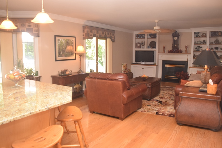 Real Estate Photography - 109 Nashua Ct, Bear, DE, 19701 - Family Room Opens up to Kitchen