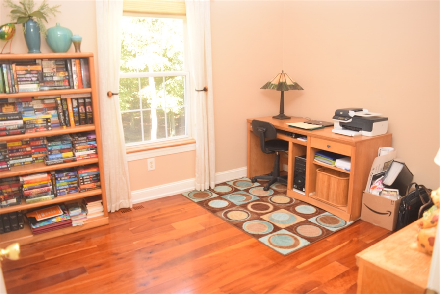 Real Estate Photography - 109 Nashua Ct, Bear, DE, 19701 - 2nd Bedroom Cherry Wood Flooring