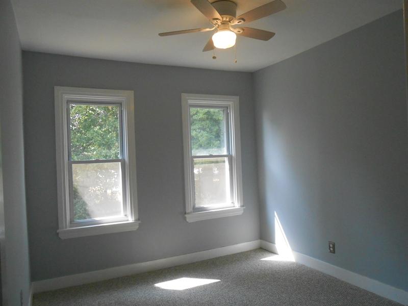 Real Estate Photography - 1706 Walnut Street Street, Wilimington, DE, 19809 - Bed Room W/ New Carpet & Ceiling Fan