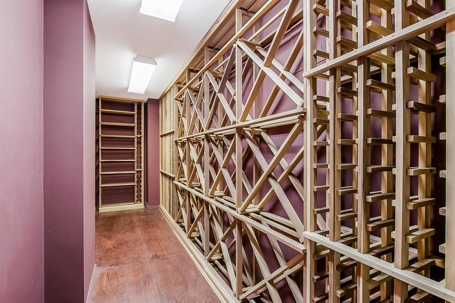 Real Estate Photography - 102 S Kildonan Gln, Wilmington, DE, 19807 - Lower Level Wine Closet