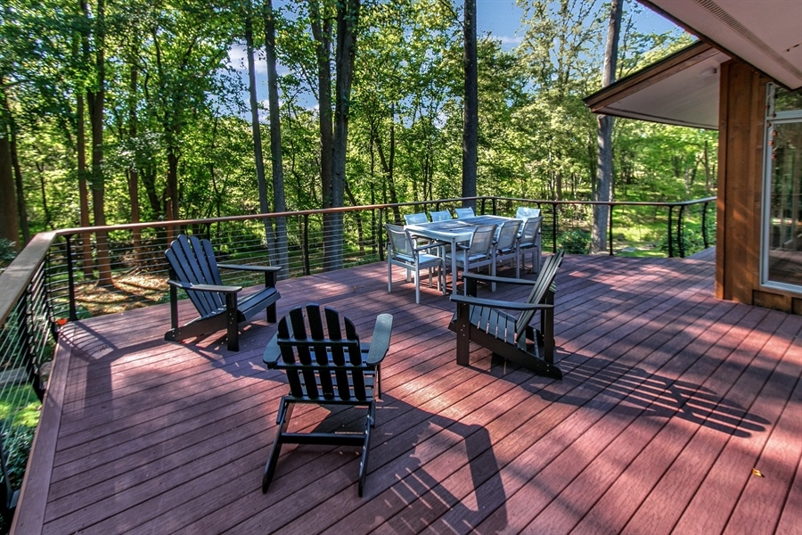 Real Estate Photography - 102 S Kildonan Gln, Wilmington, DE, 19807 - Deck Perfect for Enjoying the Private Rear Yard