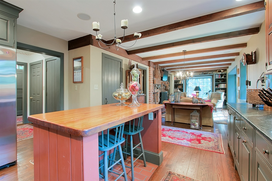 Real Estate Photography - 118 Chandler Ave, Wilmington, DE, 19807 - Period Waterbury Kitchen Opens to Family Room