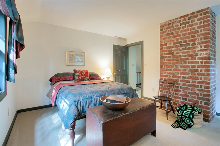 Real Estate Photography - 118 Chandler Ave, Wilmington, DE, 19807 - Bedroom #1 with Exposed Brick Wall