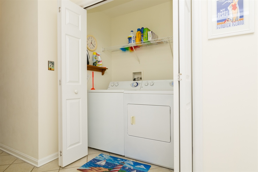 Real Estate Photography - 39035 Beacon Drive #5, 5, Fenwick Island, DE, 19944 - Entry Hall Laundry Closet