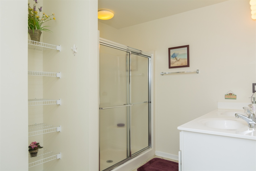 Real Estate Photography - 39035 Beacon Drive #5, 5, Fenwick Island, DE, 19944 - Master Bathroom w/stand up shower stall