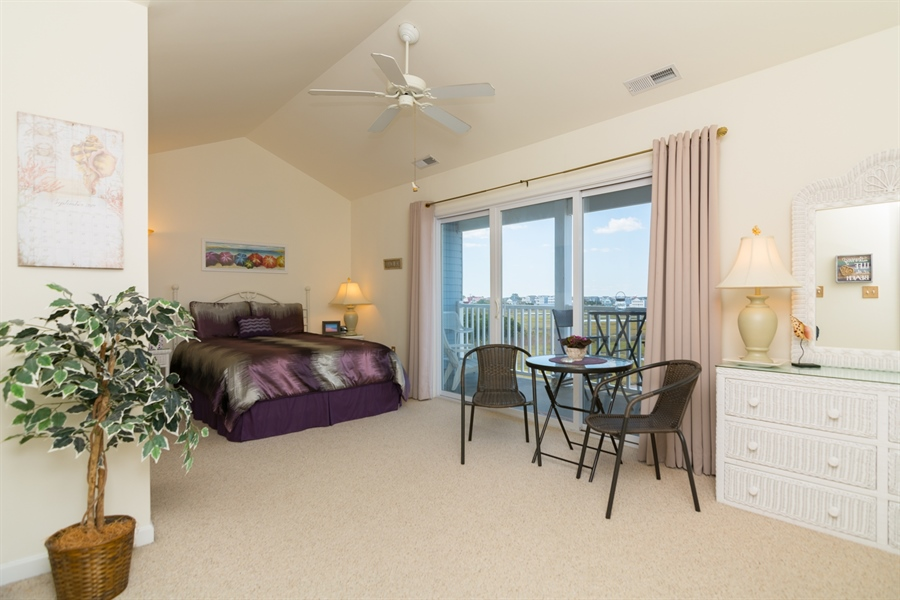 Real Estate Photography - 39035 Beacon Drive #5, 5, Fenwick Island, DE, 19944 - Master Suite w/water views
