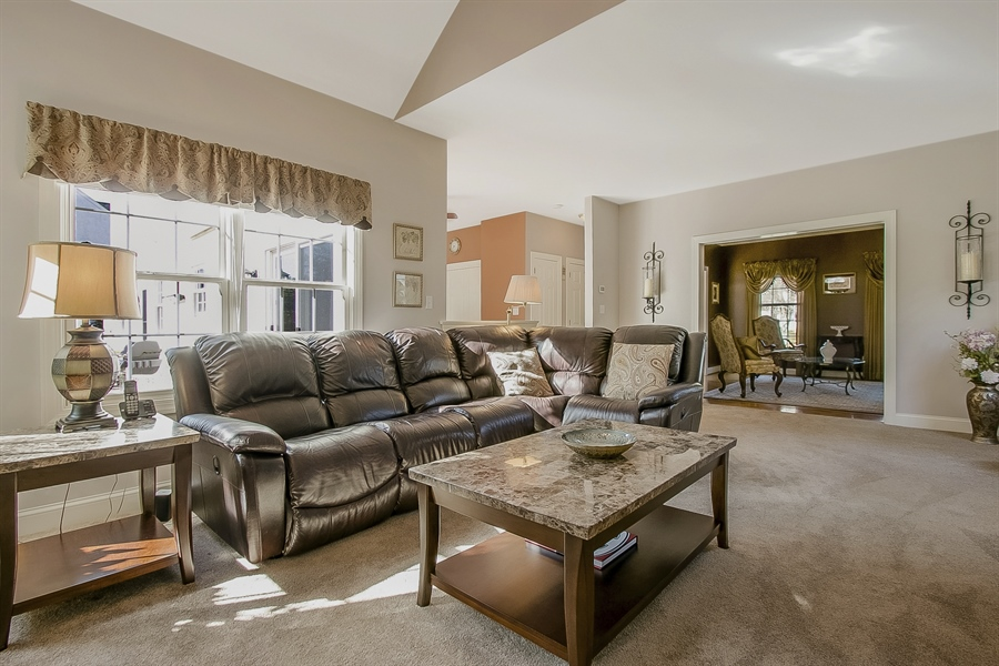Real Estate Photography - 303 Wyndtree Ct N, Hockessin, DE, 19707 - Fabulous Family Room With Fireplace