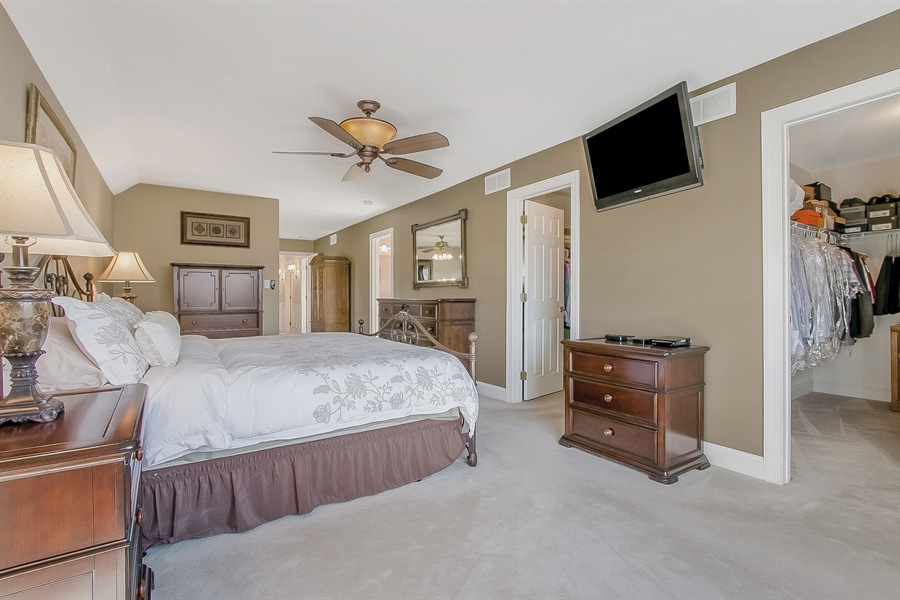 Real Estate Photography - 303 Wyndtree Ct N, Hockessin, DE, 19707 - Master Bedroom Boasts His And Hers Walk-In Closets