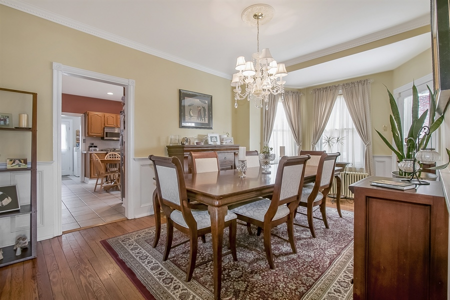 Real Estate Photography - 2905 W 6th St, Wilmington, DE, 19805 - Dining Room with Wainscoting