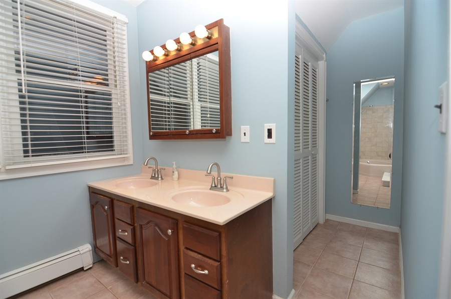 Real Estate Photography - 2905 W 6th St, Wilmington, DE, 19805 - Master Bath with More Closet Space