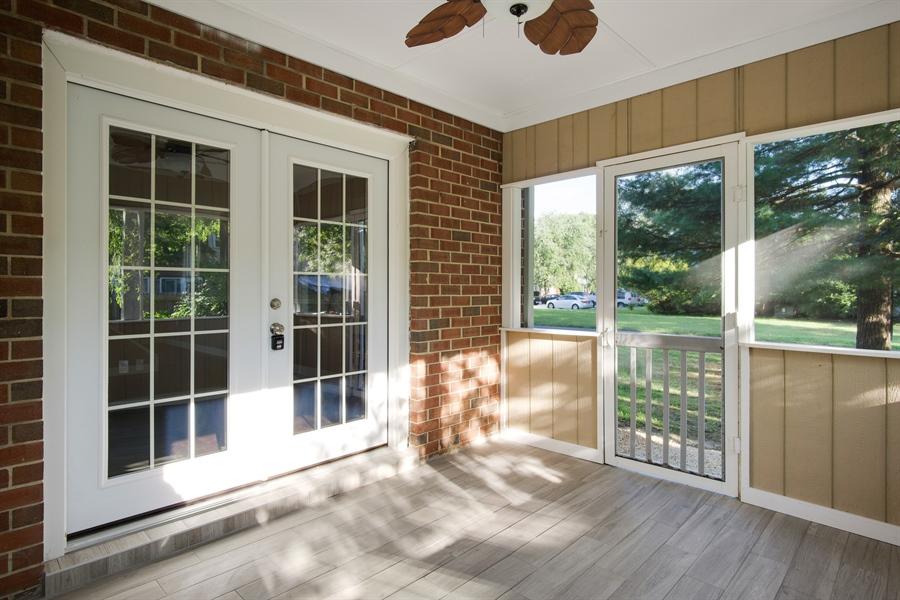 Real Estate Photography - 29 Patrick Henry Ct, Newark, DE, 19711 - Rebuilt Screen In Porch w/Tile Floors & PVC Trim