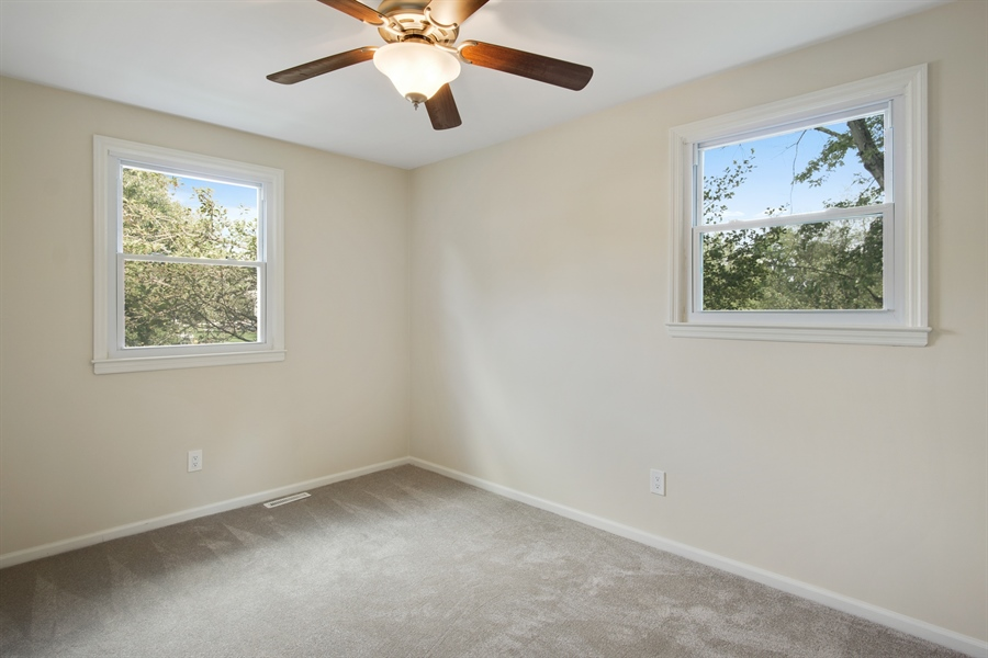 Real Estate Photography - 29 Patrick Henry Ct, Newark, DE, 19711 - 2nd Bedroom w/NEW Windows, Carpet & Ceiling Fans.