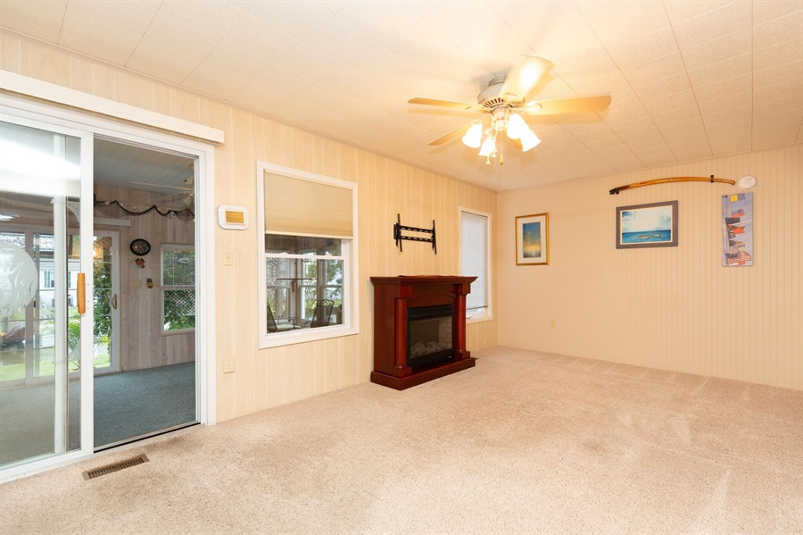 Real Estate Photography - 30347 Terrace Rd, Ocean View, DE, 19970 - Living room w/Electric Fireplace