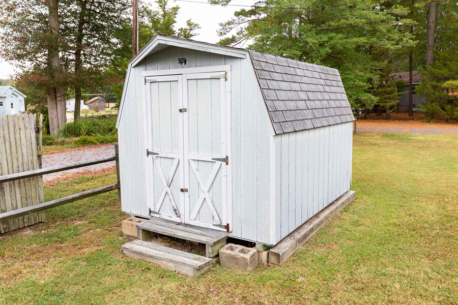 Real Estate Photography - 30347 Terrace Rd, Ocean View, DE, 19970 - Shed 2