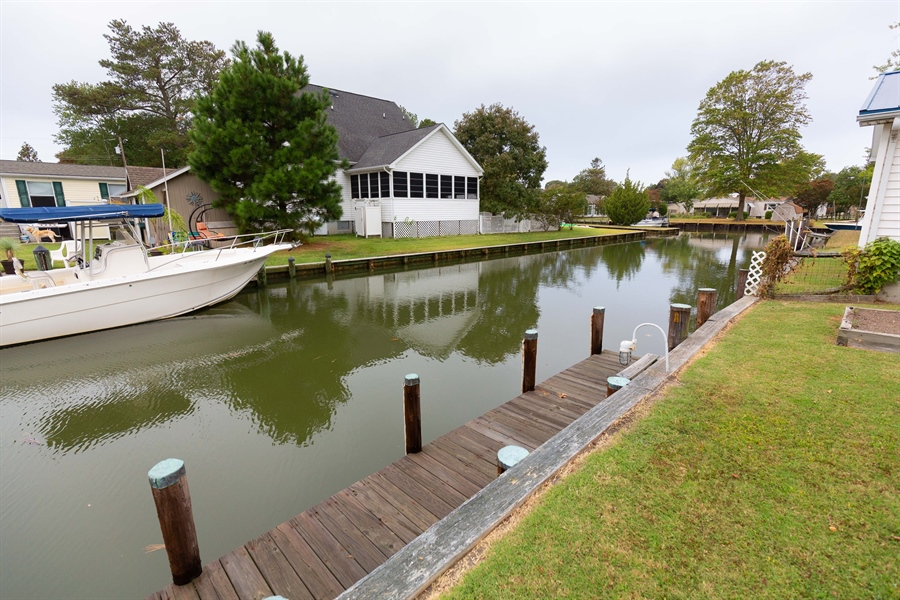 Real Estate Photography - 30347 Terrace Rd, Ocean View, DE, 19970 - Canal 2nd View