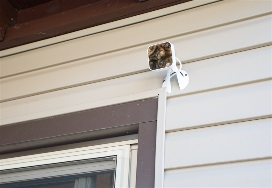Real Estate Photography - 119 E Green Valley Cir, Newark, DE, 19711 - Security camera at rear