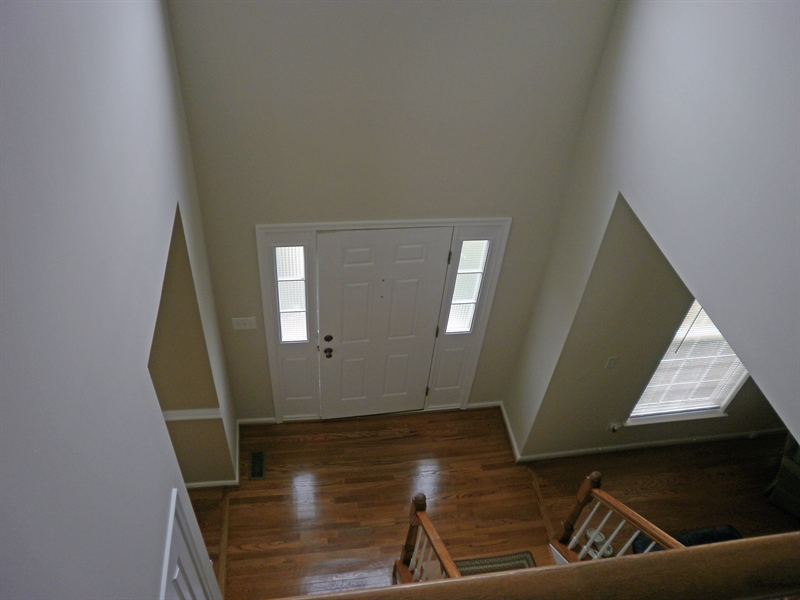 Real Estate Photography - 15 Mica St, Townsend, DE, 19734 - 2 Story entry foyer w/ hardwood floors