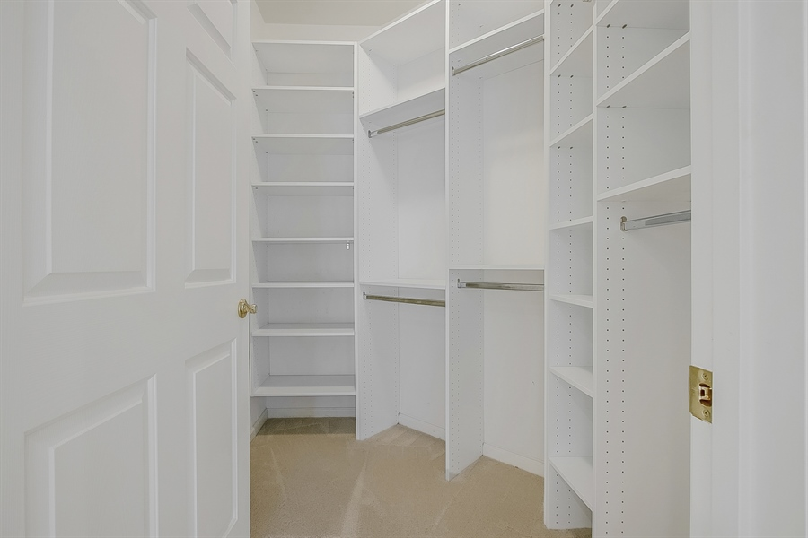 Real Estate Photography - 192 Landis Way N, Wilmington, DE, 19803 - Large master closet with built in shelving