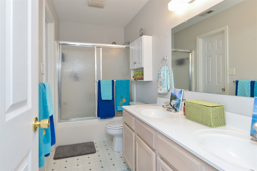 Real Estate Photography - 108 N East Plz, North East, MD, 21901 - Dual Entry Bathroom w/Double Vanity