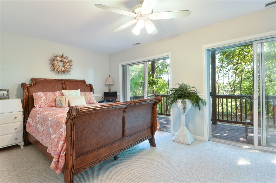 Real Estate Photography - 108 N East Plz, North East, MD, 21901 - Master Bedroom w/Private Deck